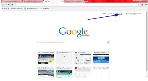 Halaman Muka Google