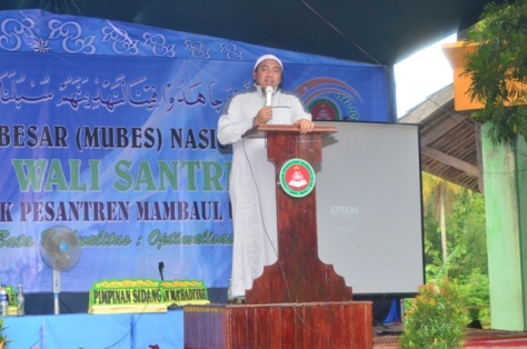 RKH THOHIR ZAIN dalam acara MUBES Wali Santri 2014